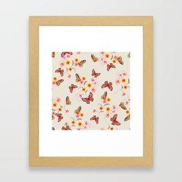 India Floral Framed Art Print