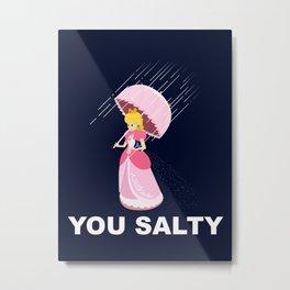 Salty Metal Print