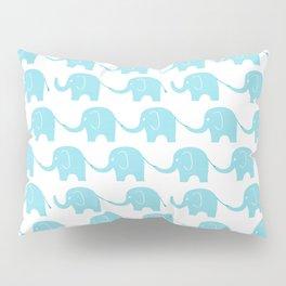 Blue Elephant Parade Pillow Sham