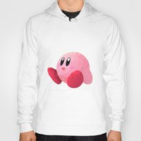 kirby Hoodies featuring Kirby by Sharna Myers