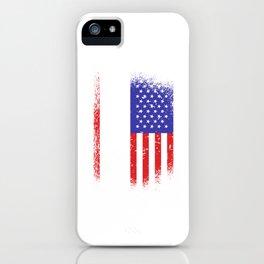 Skate - USA, American flag iPhone Case
