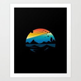 Scenic colorful space Art Print
