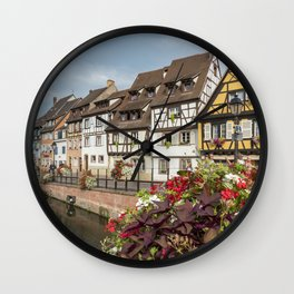 Fishmonger's District, Colmar, France Wall Clock