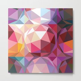 Geodesic dome pattern Metal Print