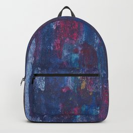 Abstract Purple Decay Backpack