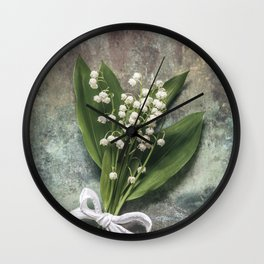 Beautiful Lily Of The Valley Wall Clock
