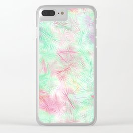Tangled Green Fireworks Clear iPhone Case