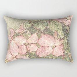 Satomi Dogwood, Pencil Sketch II Rectangular Pillow