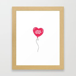 HEART BALLOON Framed Art Print