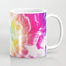 Tie-Dye Sunburst Rainbow Coffee Mug