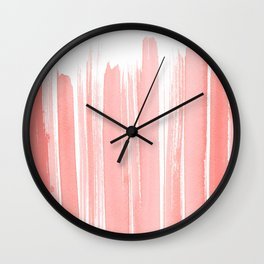 Coral Lines Wall Clock