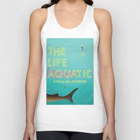 tenenbaums Tank Tops featuring The Life Aquatic by Wharton