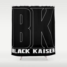 Black Kaiser BK b&w Logo Shower Curtain