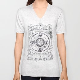 Flower Mandala (Bloom #2) Unisex V-Neck