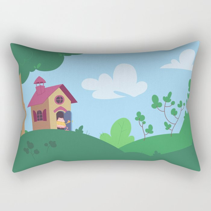 Peepoodo's house Rectangular Pillow
