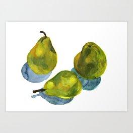 Groceries: Pears Art Print