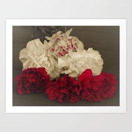Carnations POP Art Print