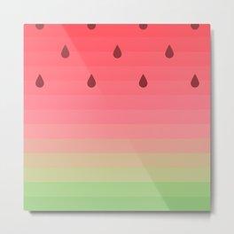 Water my Melon Metal Print