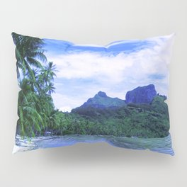 Tropical Paradise Island Beach in French Polynesia Pillow Sham