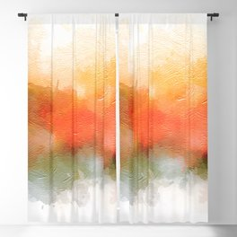 Soft Marigold Pastel Abstract Blackout Curtain