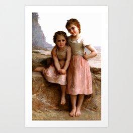 "William-Adolphe Bouguereau ""On the beach"" Art Print"
