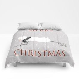 Snowman yoga - Planck Comforters