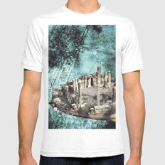 Collage #38 White MEDIUM Mens Fitted Tee
