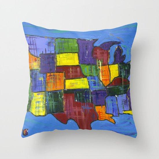 U.S.A. Throw Pillow