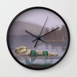 Sleeping Otter Wall Clock