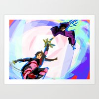 inuyasha Art Prints featuring Inuyasha - Power Couple by MyopicBloom