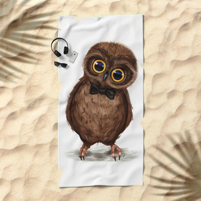 Owl III Beach Towel
