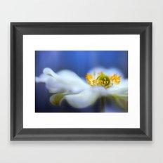 Anemone blues Framed Art Print