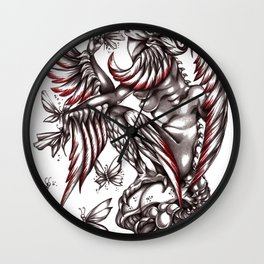 Butterfly's diet Wall Clock