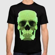 Polygon Heroes - Emerald Skull Mens Fitted Tee MEDIUM Black