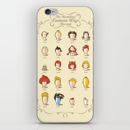 The Marvelous Cartoon Wigs Museum iPhone & iPod Skin
