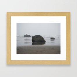 Hug Point Rock Formations Framed Art Print