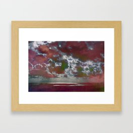 Pink Seas and Clouds Framed Art Print