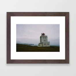 Dyrhólaey Lighthouse, Iceland Framed Art Print