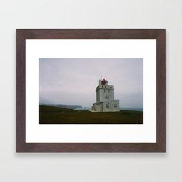 Dyrhólaey Lighthouse, Iceland Framed Art Print