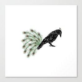 Funny Crow Canvas Print