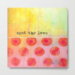 """Spot The Love"" An original design by PhillipaheART Metal Print"