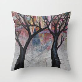 Scrappy Trees Throw Pillow