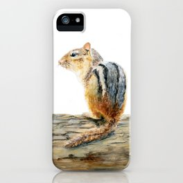 Little Chip - a painting of a Chipmunk by Teresa Thompson iPhone Case