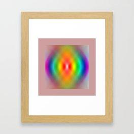 Rainbow Spiral Framed Art Print