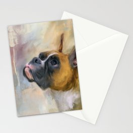 Flashy Fawn Boxer Stationery Cards