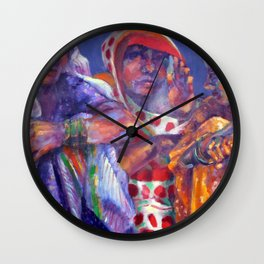 Three Cloth Sellers Wall Clock