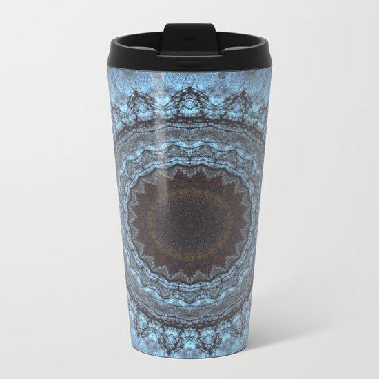 Bohemian Blue Metal Travel Mug