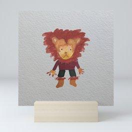 Lion Jungle Friends Baby Animal Water Color Mini Art Print