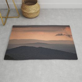 Blue Ridge Parkway Sunset - Shenandoah National Park Rug