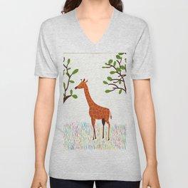 Giraffe Unisex V-Neck